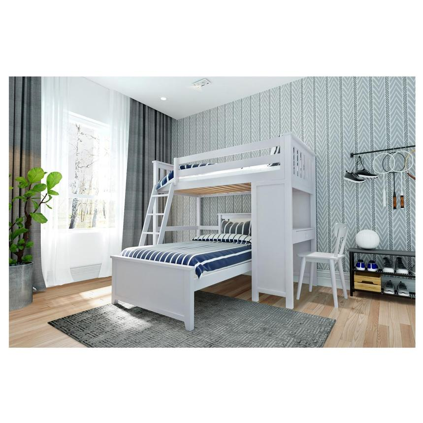 Haus White Twin Over Twin Bunk Bed W Desk El Dorado Furniture