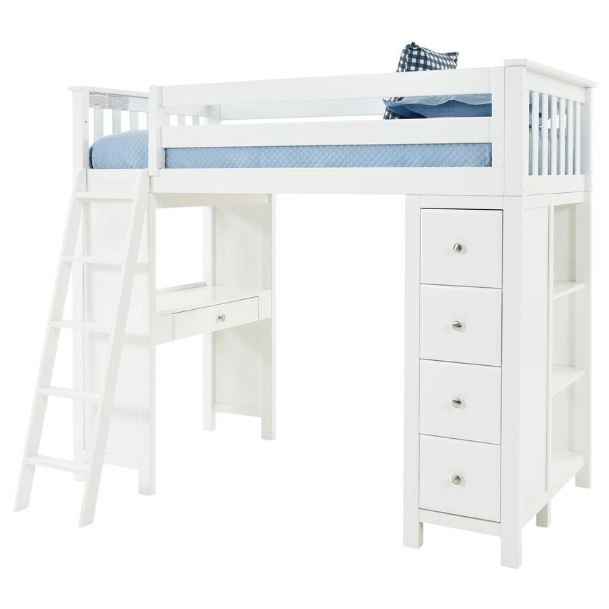 Haus White Twin Loft Bed w/Desk & Chest  alternate image, 4 of 15 images.