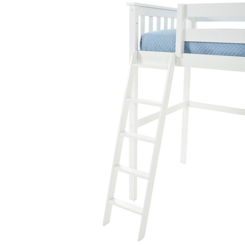 Haus White Twin Loft Bed w/Chest  alternate image, 9 of 13 images.