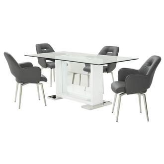 Finley Gray 5-Piece Dining Set