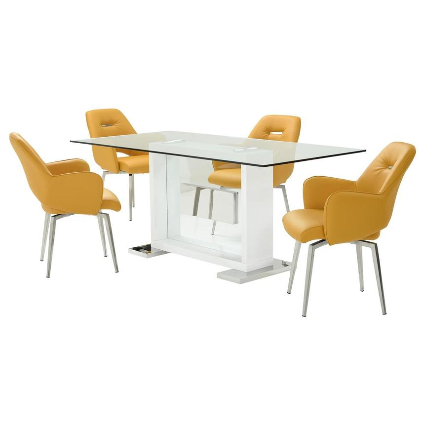 Finley Yellow 5-Piece Dining Set  main image, 1 of 13 images.