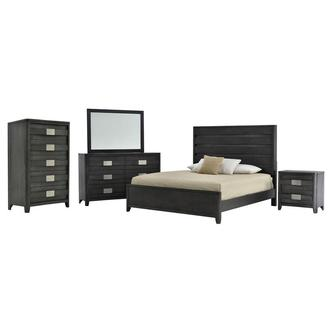 Contour Gray 6-Piece Queen Bedroom Set