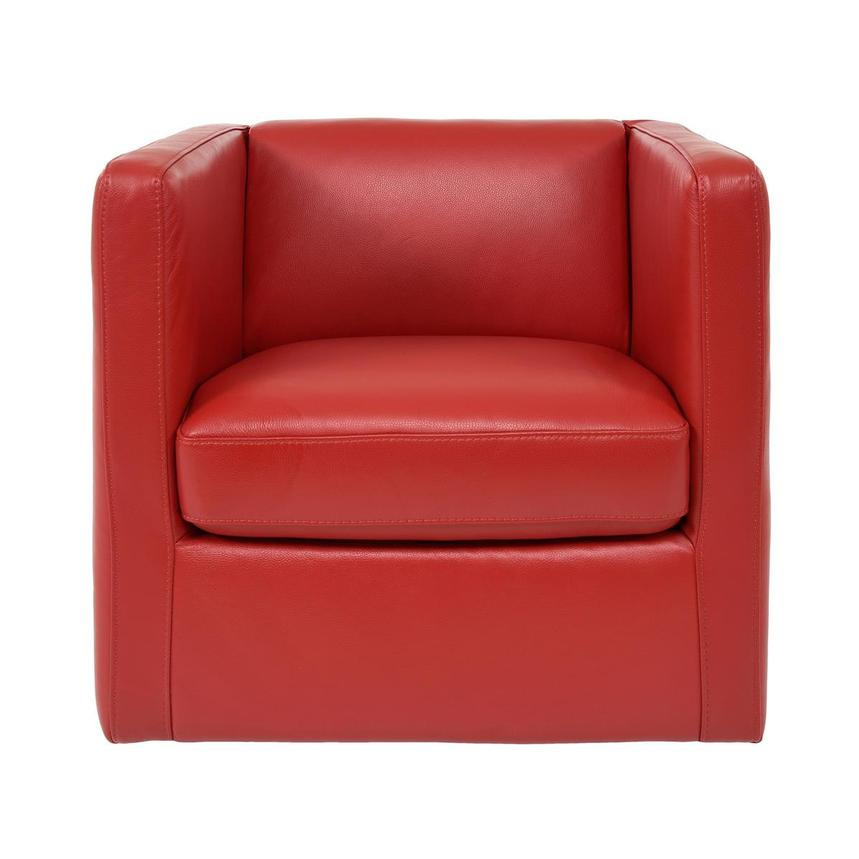 Cute Red Leather Swivel Chair  main image, 1 of 6 images.