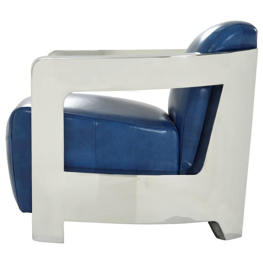 Aviator II Blue Leather Accent Chair  alternate image, 5 of 9 images.