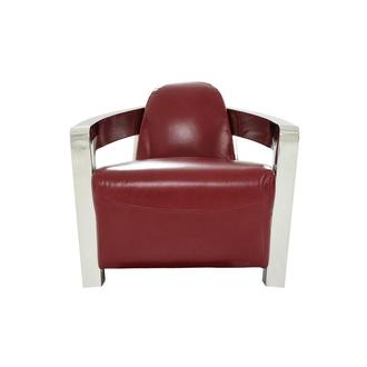 Aviator II Red Leather Accent Chair