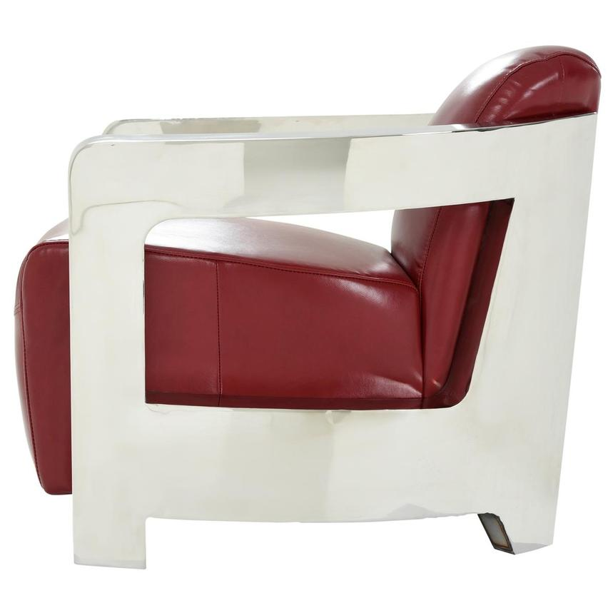Aviator II Red Leather Accent Chair  alternate image, 5 of 8 images.