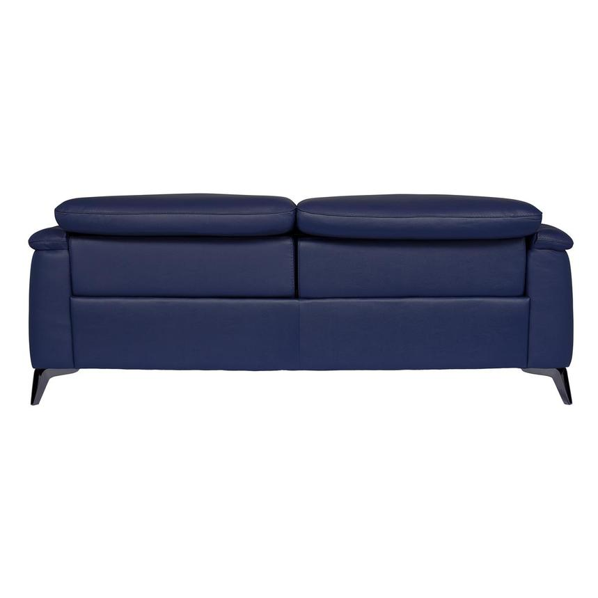 Anabel Blue Leather Power Reclining Sofa  alternate image, 5 of 12 images.