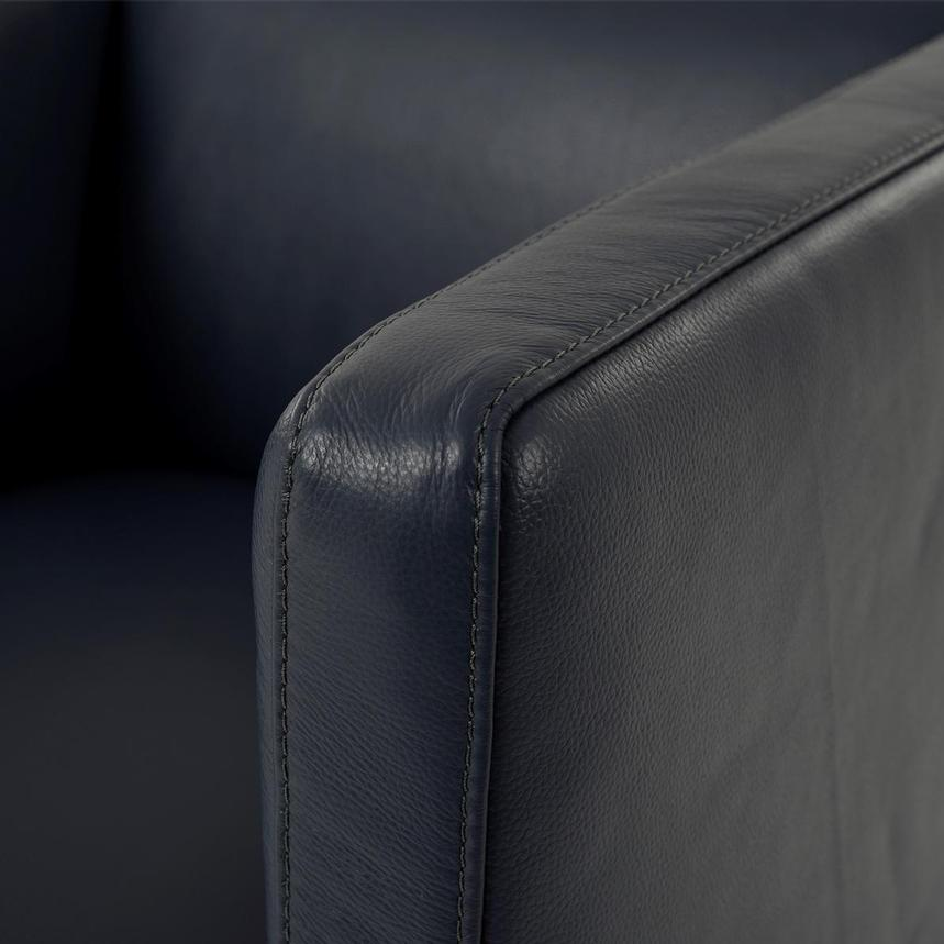 Cute Blue Leather Swivel Chair  alternate image, 6 of 8 images.