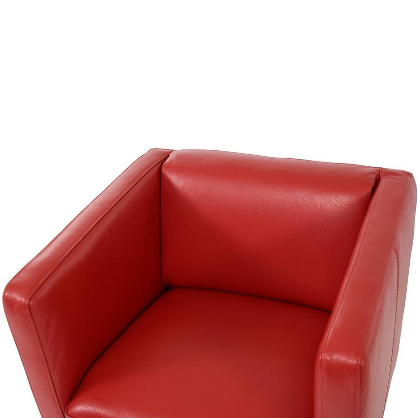 Cute Red Leather Swivel Chair  alternate image, 5 of 8 images.