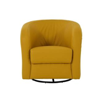 Delia Yellow Swivel Accent Chair