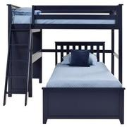 Haus Blue Twin Over Twin Bunk Bed w/Desk  alternate image, 4 of 10 images.