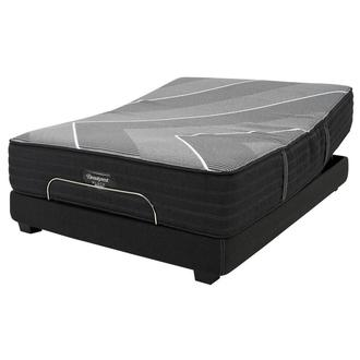 BRB-X-Class Hybrid Med. Firm King Mattress w/Beautyrest® Black Luxury Powered Base by Simmons