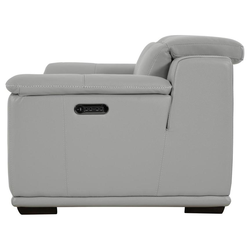 Davis 2.0 Light Gray Leather Power Reclining Loveseat  alternate image, 4 of 10 images.