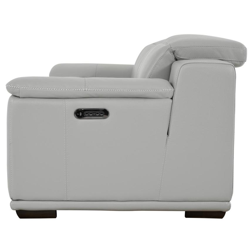 Davis 2.0 Light Gray Leather Power Reclining Sofa  alternate image, 4 of 10 images.