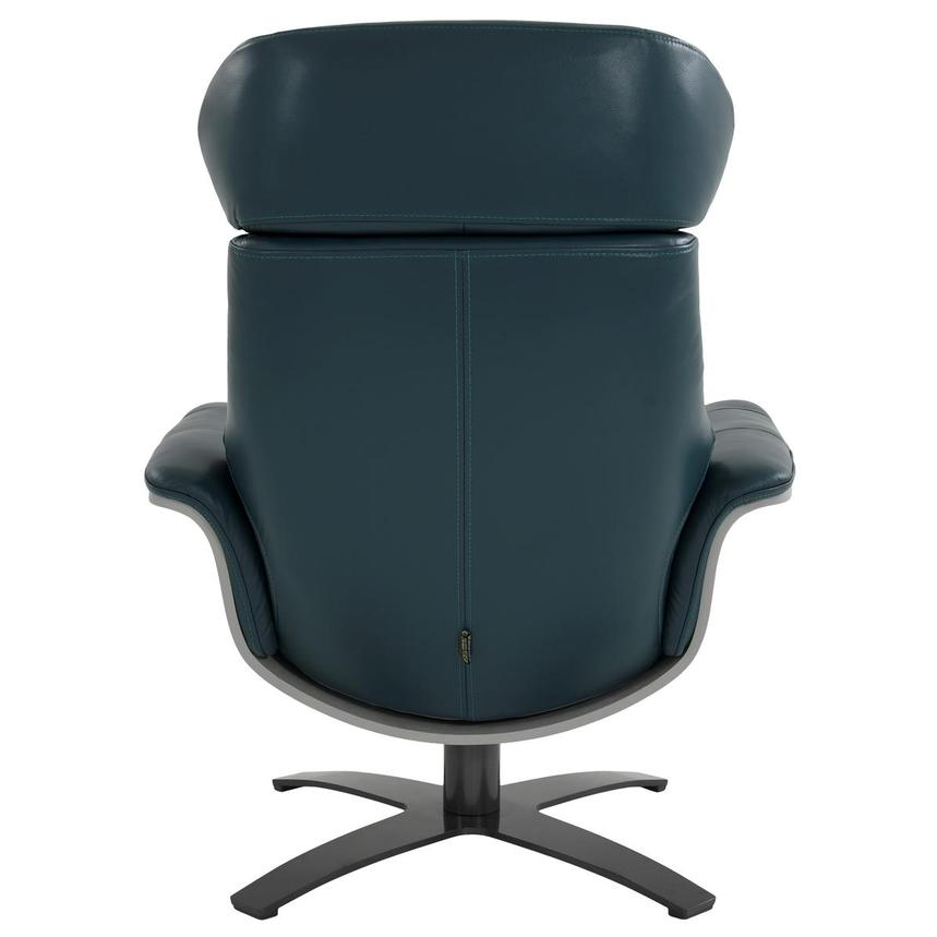 Enzo Green Leather Swivel Chair  alternate image, 6 of 12 images.