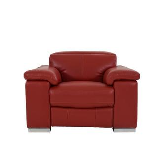 Charlie Red Leather Power Recliner
