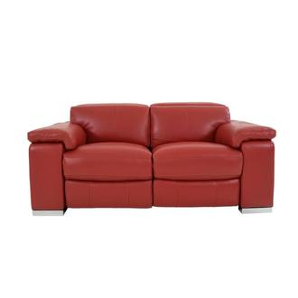 Charlie Red Leather Power Reclining Loveseat