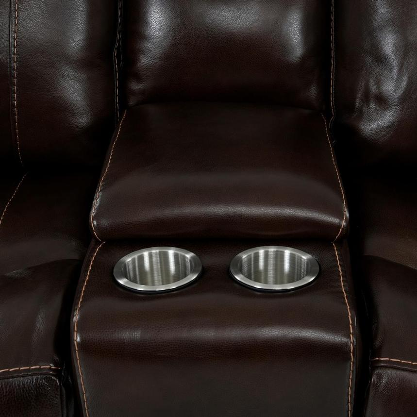 Billy Joe Leather Power Reclining Sectional  alternate image, 10 of 12 images.