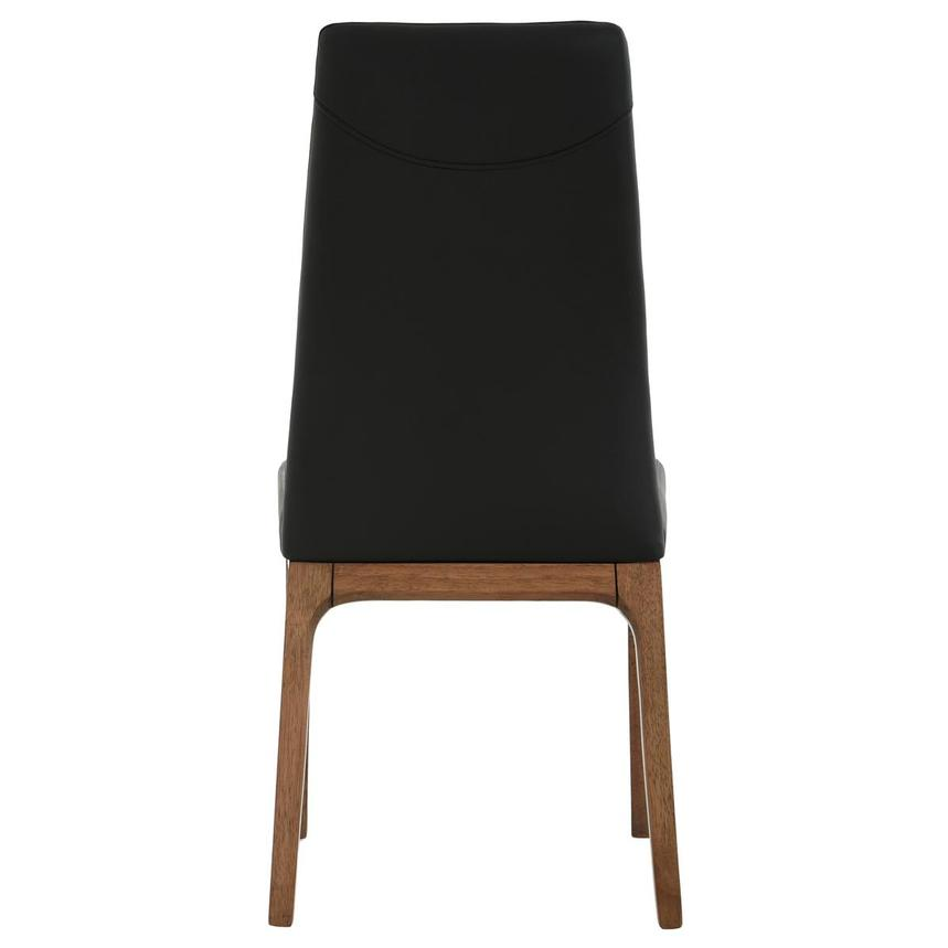 Valencia Walnut Black Leather Side Chair El Dorado Furniture