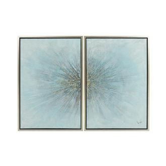 Eclater Blue Set of 2 Canvas Wall Art