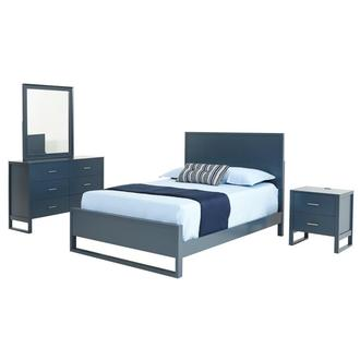 Mira Blue 4-Piece Full Bedroom Set