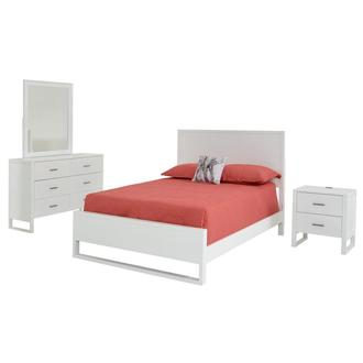 Mira White 4-Piece Twin Bedroom Set
