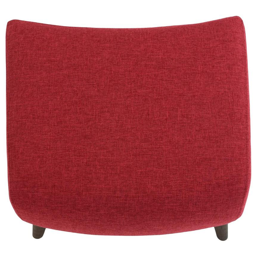 Haisley Red Accent Chair w/Ottoman  alternate image, 14 of 15 images.