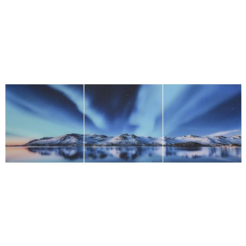 Northern Lights Set of 3 Acrylic Wall Art  main image, 1 of 5 images.
