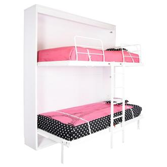 Maximus Twin Over Twin Murphy Bunk Bed w/Mattress