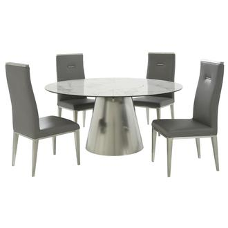 Tessa/Gavin Gray 5-Piece Dining Set