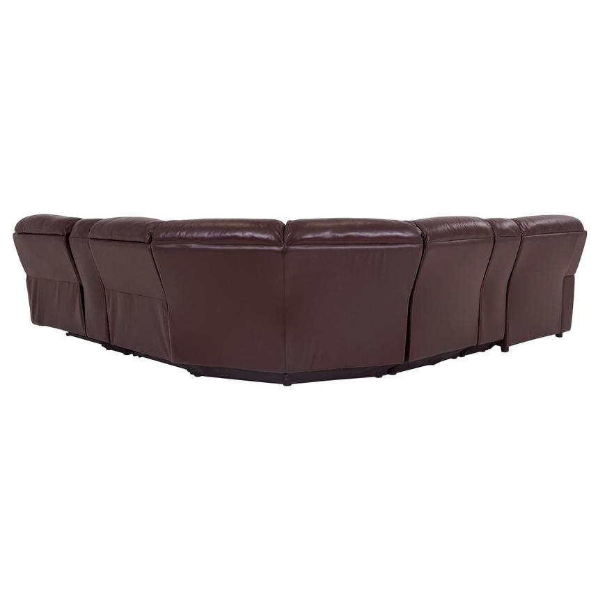 Napa Burgundy Leather Power Reclining Sectional w/Left Chaise  alternate image, 4 of 8 images.