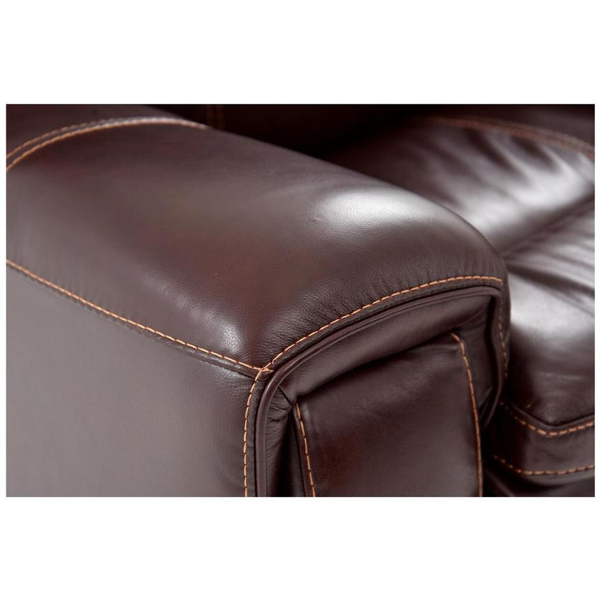 Napa Burgundy Leather Power Reclining Sectional w/Right Chaise  alternate image, 5 of 8 images.
