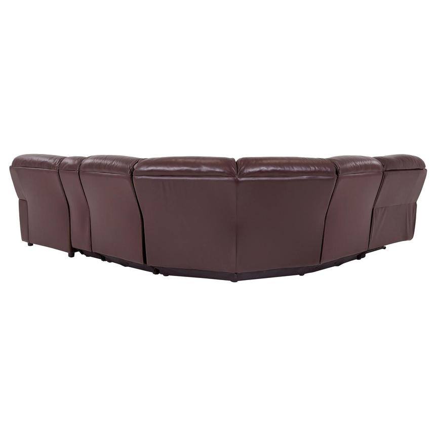Napa Burgundy Leather Power Reclining Sectional w/Right Chaise  alternate image, 4 of 7 images.