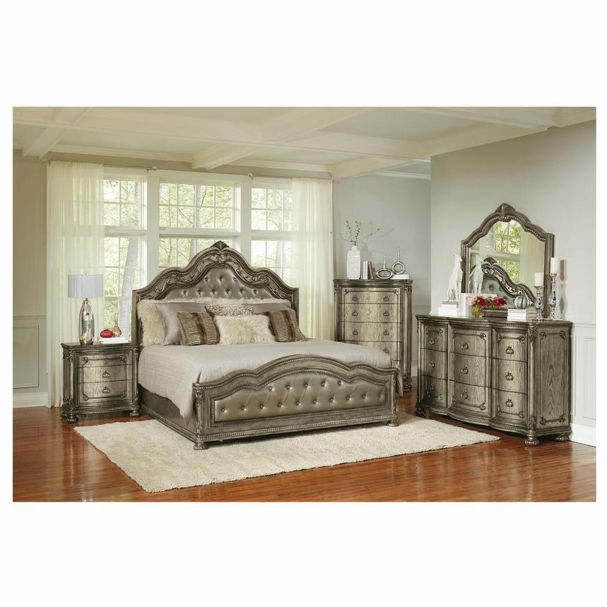 Granada Gray 4 Piece King Bedroom Set El Dorado Furniture