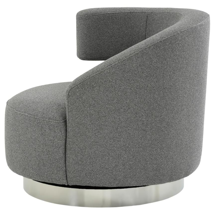 Okru Dark Gray Swivel Chair  alternate image, 3 of 7 images.