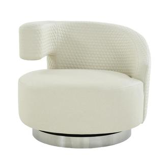 Okru Cream Swivel Chair