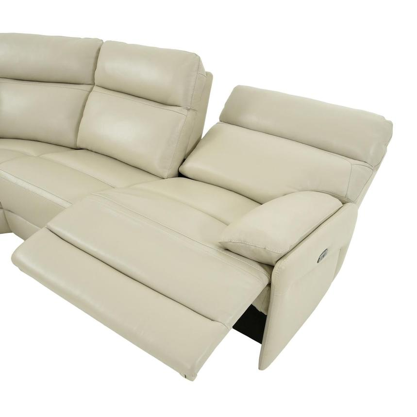 Benz Cream Leather Power Reclining Sectional  alternate image, 5 of 12 images.