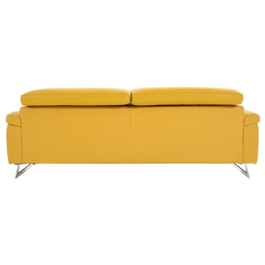 Gabrielle Yellow Leather Power Reclining Sofa  alternate image, 5 of 11 images.