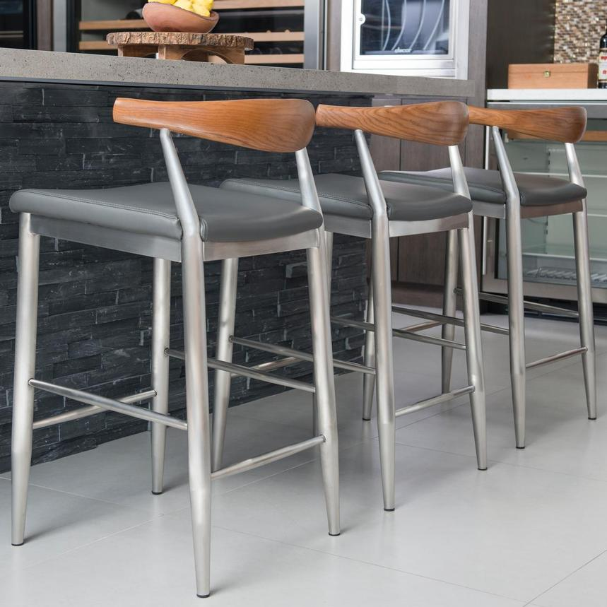 Timber Gray Counter Stool  alternate image, 2 of 9 images.