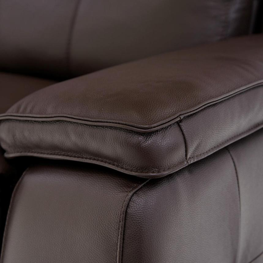 Gian Marco Dark Brown Leather Power Reclining Sectional  alternate image, 5 of 9 images.