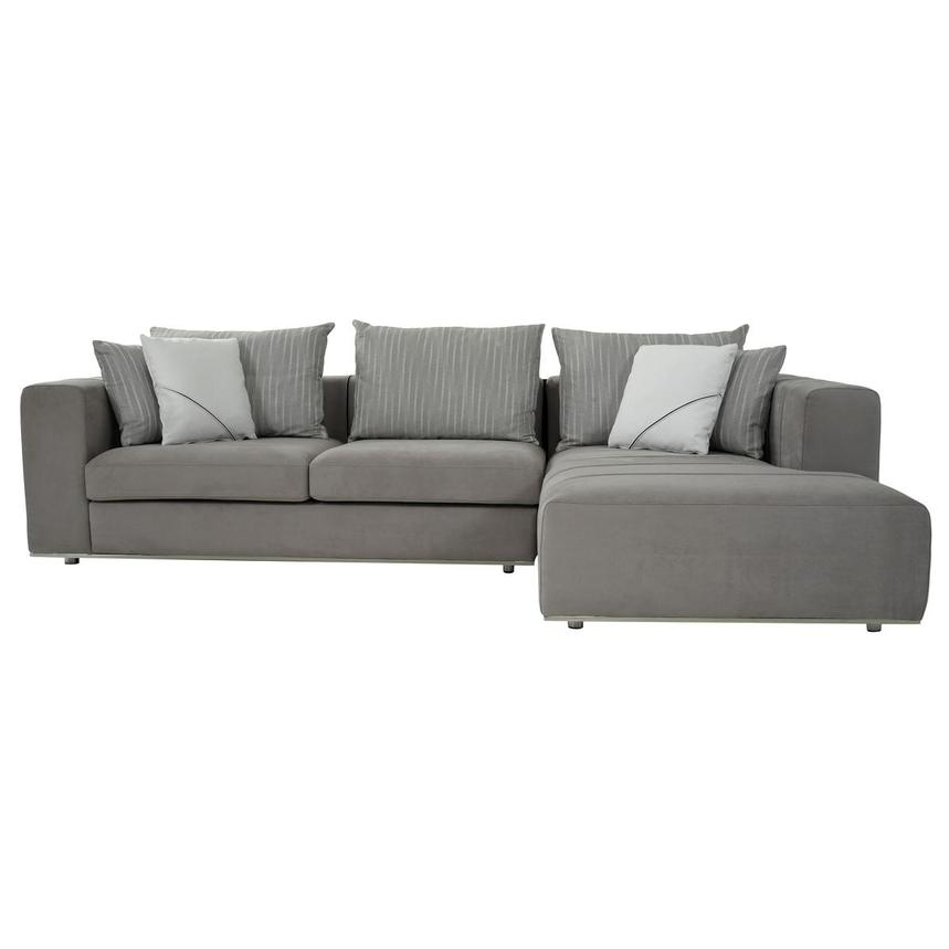 Silvia Sectional Sofa w/Right Chaise  alternate image, 3 of 10 images.