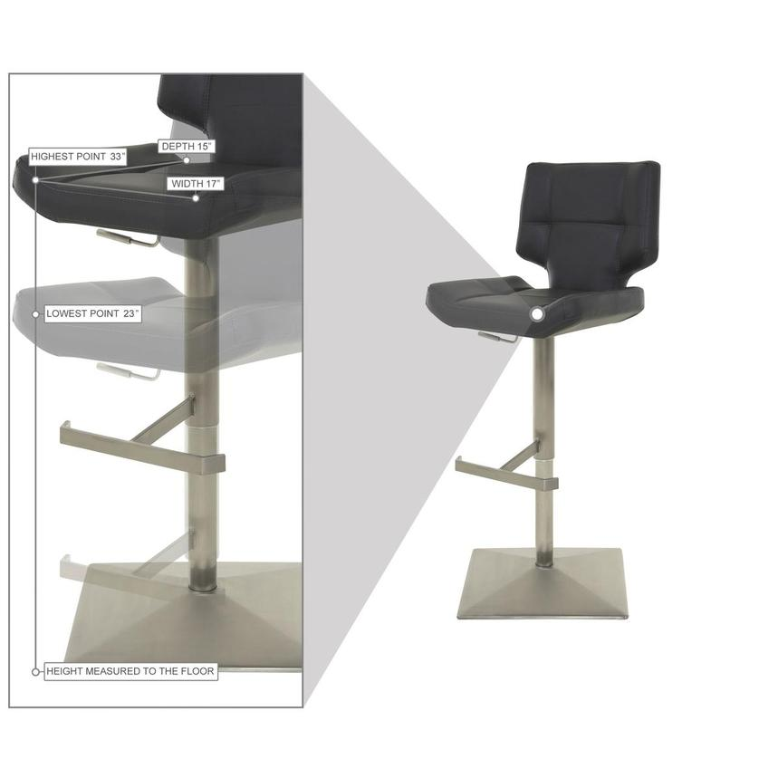 Emely Gray Adjustable Stool  alternate image, 9 of 10 images.