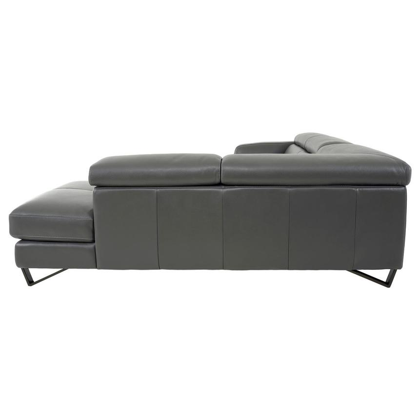 Sparta Gray Leather Corner Sofa w/Right Chaise  alternate image, 5 of 12 images.