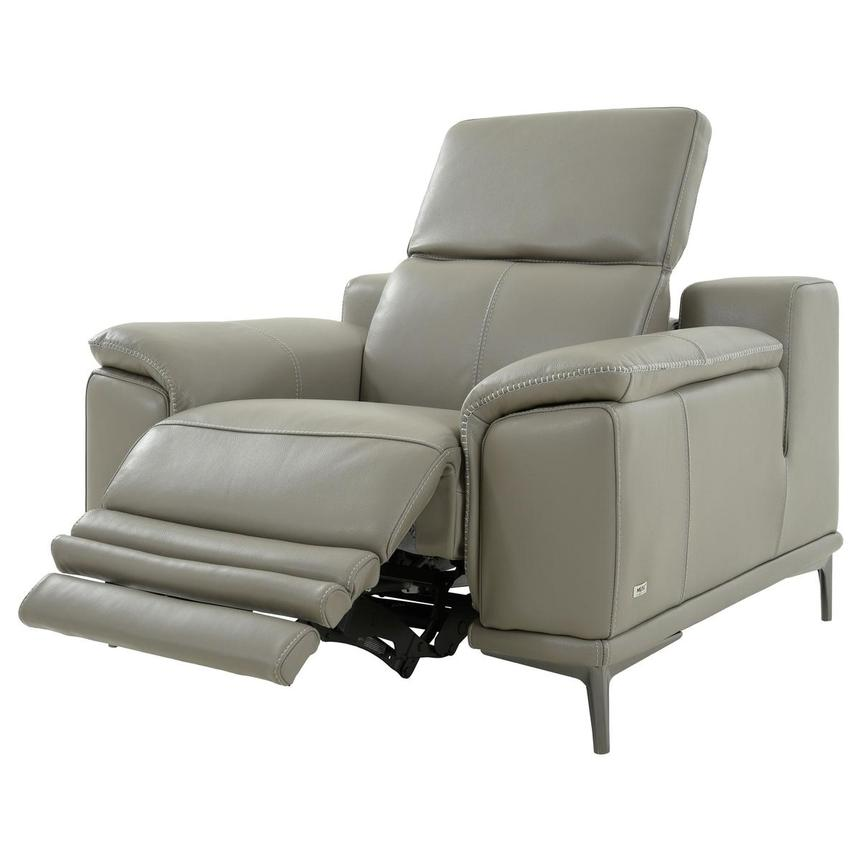 Katherine Taupe Leather Power Recliner  alternate image, 3 of 12 images.