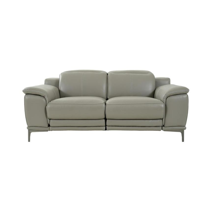 Katherine Taupe Leather Power Reclining Loveseat  main image, 1 of 12 images.