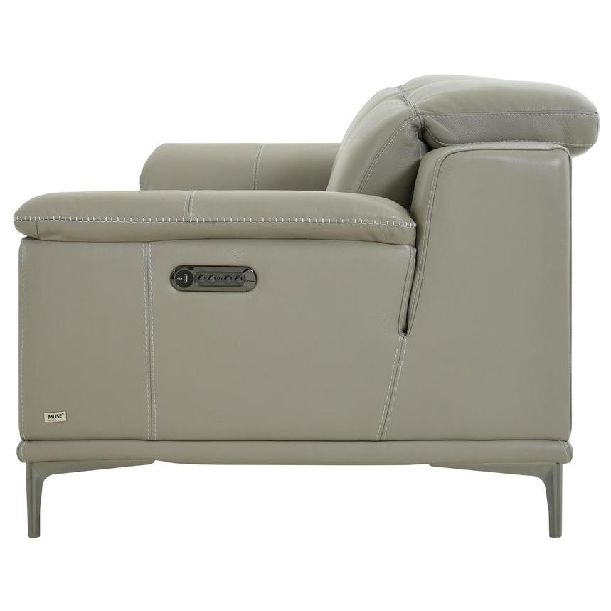 Katherine Taupe Leather Power Reclining Loveseat  alternate image, 4 of 12 images.