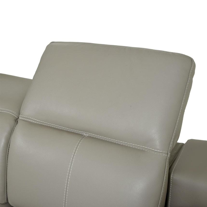 Katherine Taupe Leather Power Reclining Loveseat  alternate image, 6 of 12 images.
