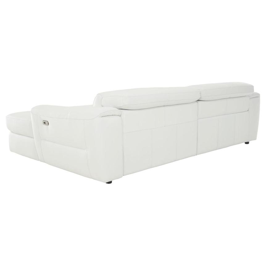 Sofextra White Leather Power Reclining Sofa w/Right Chaise  alternate image, 6 of 16 images.