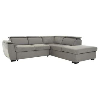 Gail Gray Sleeper w/Right Chaise
