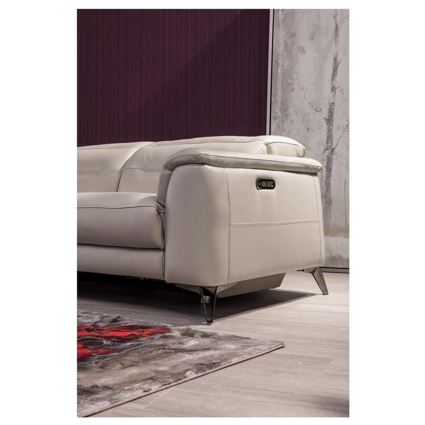 Anabel Cream Leather Power Reclining Loveseat  alternate image, 4 of 17 images.
